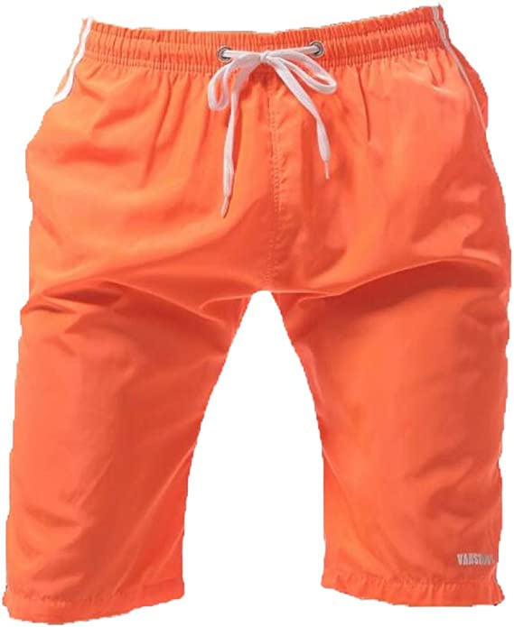 DXJJ Men Breathable Beach Swim Shorts Board Adjustable Drawstring Swimming Trunks,2Packs,L