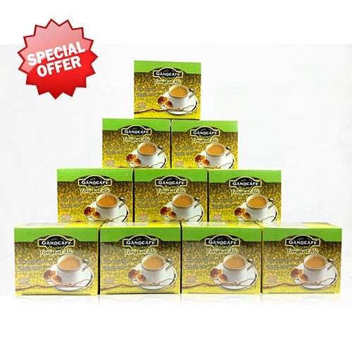 10 Boxes Ganocafe Ginseng Tongkat Ali By Gano Excel USA Inc. - 150 Sachets by Gano Excel