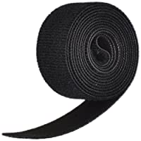 "Genuine Velcro 1804-OW-PB/B-5 One-Wrap Self Gripping Strap, 5' Length x 1"" Width, Black"
