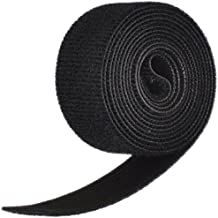 "Velcro 1804-OW-PB/B Black Nylon Onewrap Velcro Strap, Hook and Loop, 1"" Wide, 5' Length"