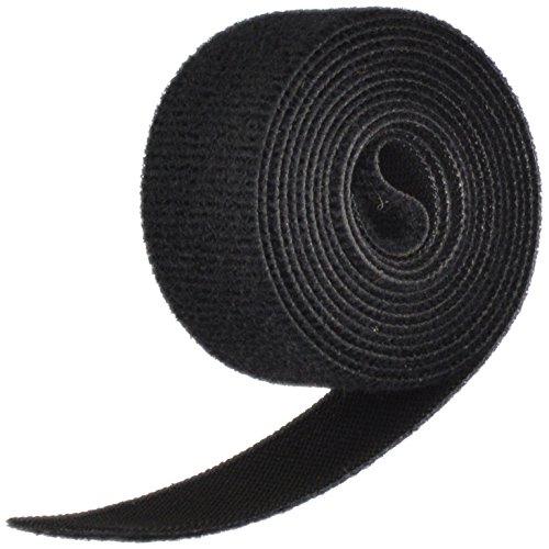"VELCRO 1804-OW-PB/B Black Nylon Onewrap Velcro Strap, Hook and Loop, 1"" Wide,"