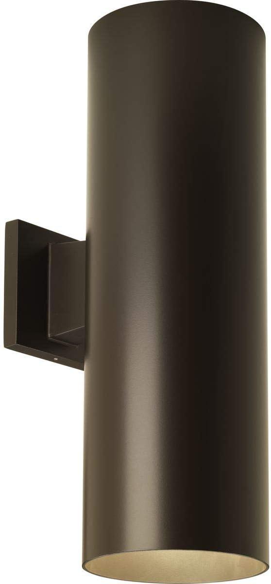 Progress Lighting P5642-20 6 Outdoor Up Down Wall Cylinder, 6-Inch Width x 18-Inch Height, Antique Bronze