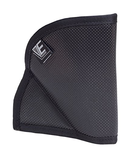 Elite Survival Pocket Holster for Ruger LCR and 2-Inch J Frame Revolvers, Black