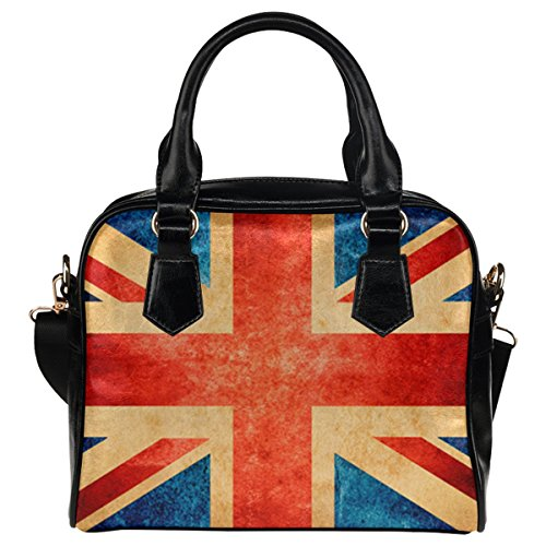 InterestPrint Vintage Union Jack PU Leather Aslant Shoulder Tote Handbag Bag (Union Jack Satchel compare prices)