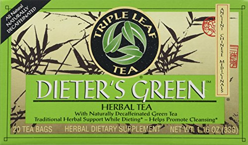 Triple Leaf Tea, Dieter's Green, 20 Tea Bags (Pack of 6)