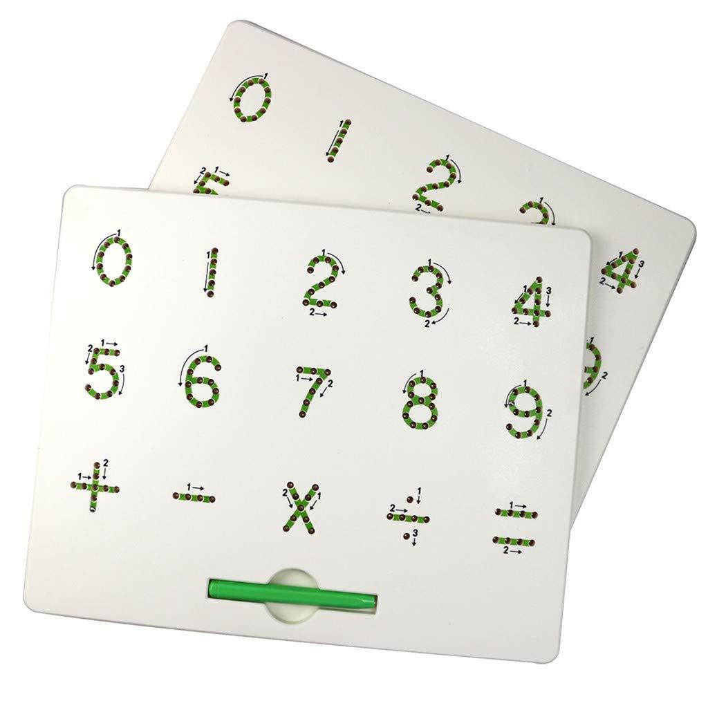 Whiteboard Hffan Holz staffelei mit Magnettafel Kreidetafel Klappbar Buchstaben magnetischen Formen Zahlen mit Papierrolle Gro/ße Magnetische Zaubertafeln f/ür Kinder ab 3 Jahren