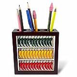chili pen - 3dRose ph_1042_1 Chili Pepper Tile Pen Holder, 5-Inch