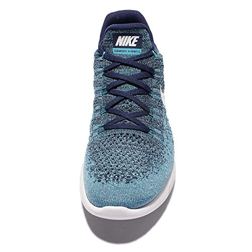 Binary Low Nike Flyknit Uomo White Blue polarized Lunarepic Scarpe Running da 2 qq8f51C