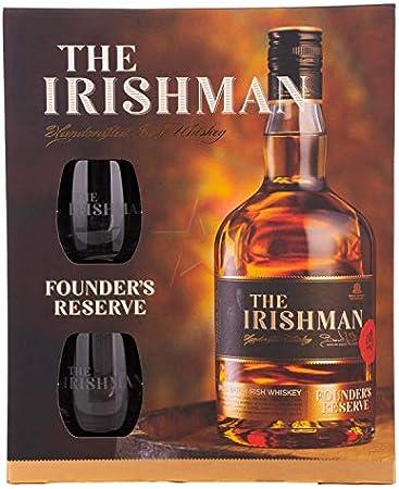 The Irishman FOUNDER'S RESERVE Small Batch Irish Whiskey 40% - 700 ml in Giftbox with 2 glasses