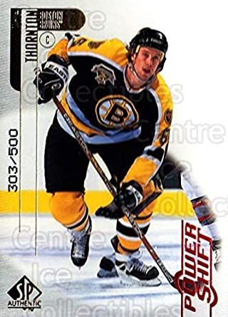 Amazoncom Ci Joe Thornton Hockey Card 1998 99 Sp Authentic Power