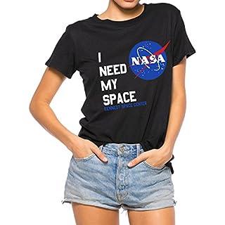Nlife Women Fashion I Need My Space Shirt NASA Shirt Women NASA T Shirt Short Sleeve Tee