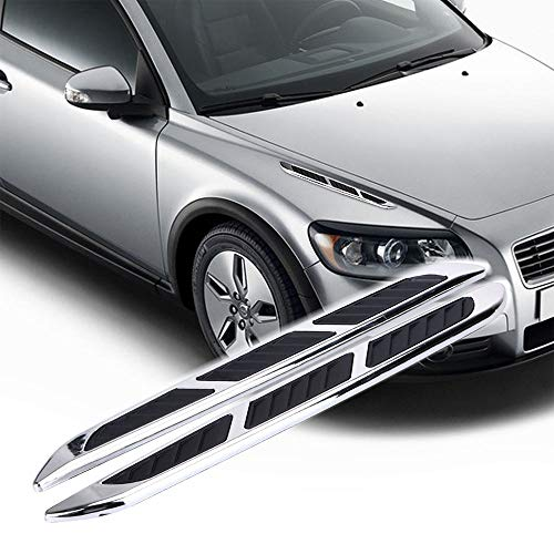 LEIWOOR 2Pcs Personality 3D Sticker Car Chrome Grille Shark Gill Simulation Air Flow Vent Fender Decal Auto Decoration ()