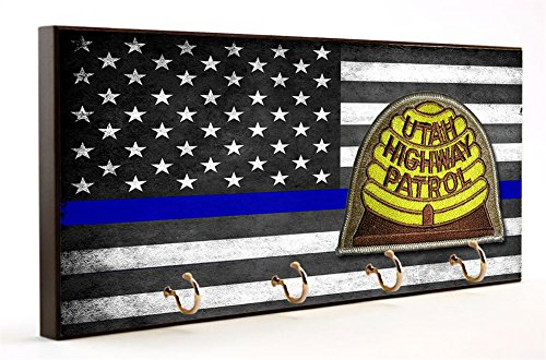 State Highway Patrol - Thin Blue Line Utah State Highway Patrol Key Hanger