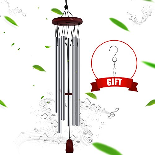 FittiDoll Wind Chime 6 Metal Tubes Perfect for Patio, Garden, and Outdoor Home Décor 27 Inch