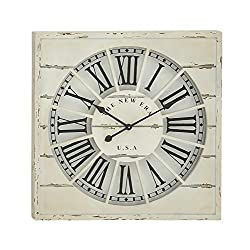 Woodland Imports Spectacular Wood Wall Clock, 27 D