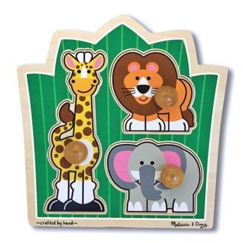 Game / Play Melissa & Doug Deluxe Jungle Friends (Safari) Jumbo Knob. Educational, Learning, Matching, Toy Toy / Child / Kid (Knob Jumbo Safari)