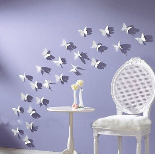 - Blaydessales: Butterfly Wall Art (Pack of 24) White Butterfly Wall Art: White PVC 3d Decorative Butterflies, Removable Wall Art, Home Decor, Wedding Décor, Nursery Decoration, Bathroom Décor, Office Décor, 3d Wall Art, 3d Crafts, DIY Decoration