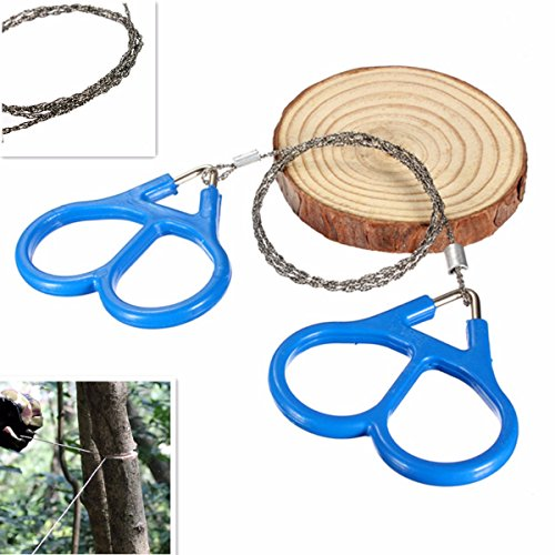 Camping & Hiking Tool - Steel Wire Scroll Outdoor Hiking Camping Survival Portable Tool - Blade Cable Byword Curlicue Sword Telegraph Adage Curl Nerve Telegram Power Saw Ringlet - 1PCs