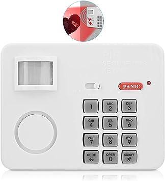Sistema de Alarma, PIR Movimiento Incorporado Contraseña de Alarma de Sensor de Movimiento, 5 Metros Rango de Detección Teclado Detectores, ...