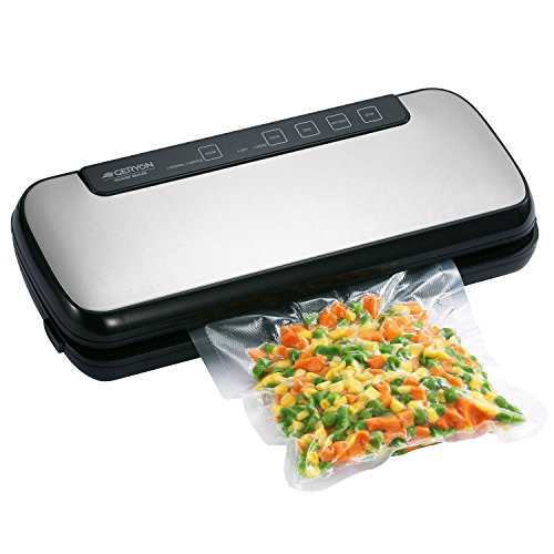 Vacuum Sealer, Geryon Automatic Food Sealers with Starter Kit of Saver Roll, Bags and Hose for Food Preservation , Black
