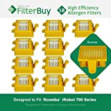10 FilterBuy iRobot Roomba 700 Compatible Filters. Designed by FilterBuy to replace iRobot Roomba 700 Series Vacuum AeroVac Filters