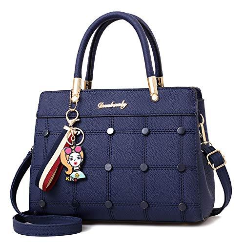 Elegante Minimalista Capacidad Salvaje De Azul Las Mujeres Mensajero Xmy Hombro Caqui Bolso Oscuro Bolsa Gran TIYqxwg