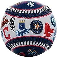 Bola de beisebol Franklin Sports 30 Club – Soft Strike – Bola com logotipo 30 Club (Todas as equipes) – Soft C