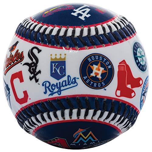 Franklin Sports 30 Club Baseball Teeball - Soft Strike - 30 Club Logo Ball (All Teams) - Soft Core - MLB Official Licensed Product