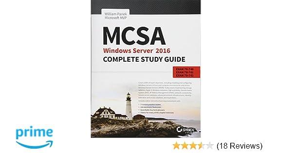 Mcsa windows server 2016 complete study guide exam 70 740 exam 70 mcsa windows server 2016 complete study guide exam 70 740 exam 70 741 exam 70 742 and composite upgrade exam 70 743 william panek 9781119359142 fandeluxe Images