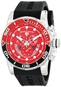 "Swiss Legend Men's 21368-05-BLK ""Avalanche"" Stainless Steel Watch with Black Silicone Band"