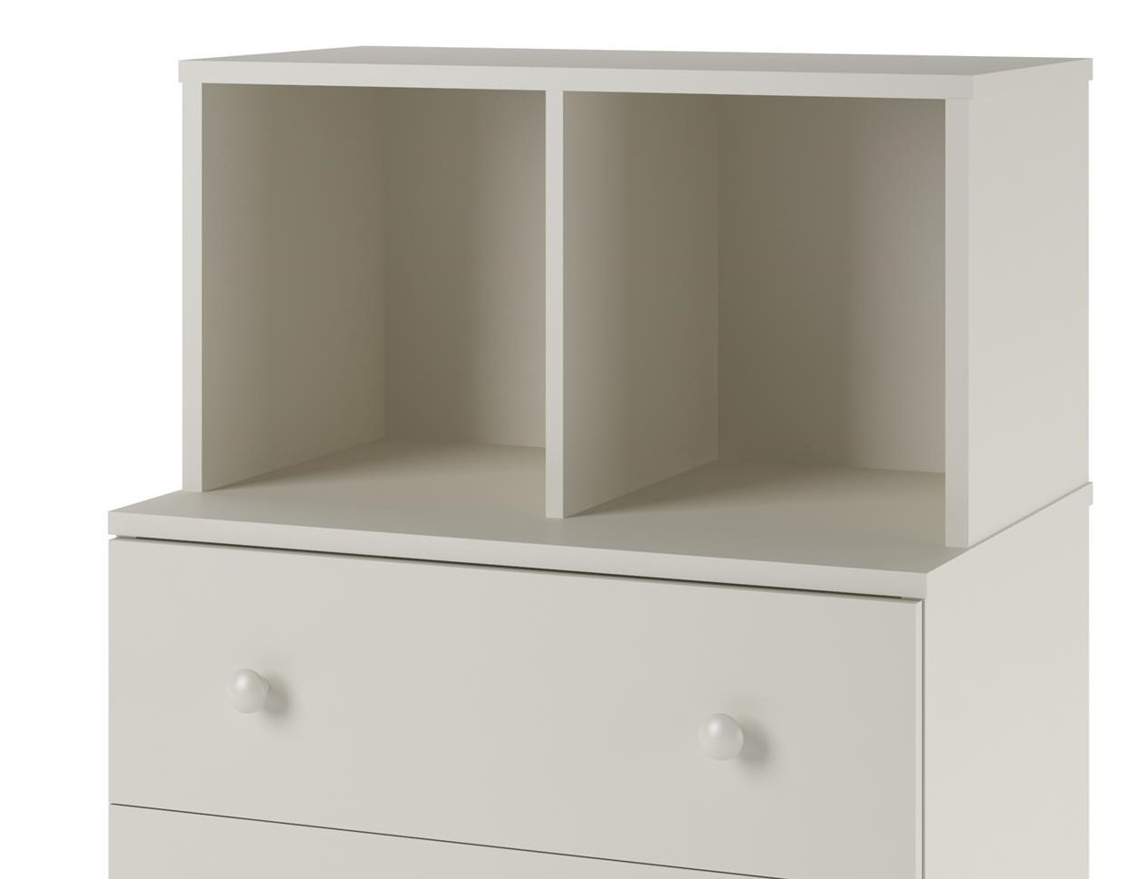 Ameriwood Home Skyler 3 Drawer Dresser with Cubbies, White by Ameriwood Home (Image #7)