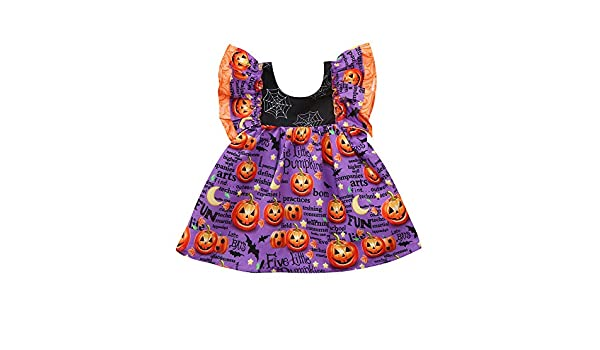 JYC Vestido para Niñas, Vestido para Bebés, Niñito Infantil Bebé Chicas Dibujos Animados Calabaza Impresión Halloween Disfraz Trajes: Amazon.es: Ropa y ...