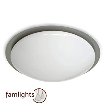 famlights LED Deckenleuchte Laura in Nickel 320 mm IP44 ...