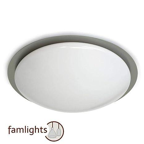 Moderne Deckenbeleuchtung 12 Watt LED Licht Wohnzimmer Lampe Beleuchtung Nickel