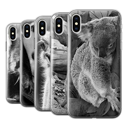 Stuff4 Gel TPU Hülle / Case für Apple iPhone X/10 / Multipack Niedlich / Zoo-Tiere Kollektion