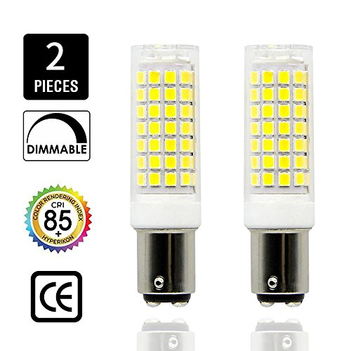 BA15D LED, Dimmable BA15D Bulb, Double Contact Bayonet Base, 8.5W BA15D Bulbs(75W Halogen Bulbs Equivalent), T3 T4 360 degree beam angle (2 Pack) … (Daylight White) (Daylight) - Ba15d Base 130 T4 Volt