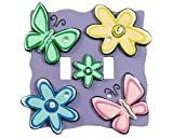 BUTTERFLY Flower SWITCHPLATE COVER girl kid decor home