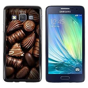 Paccase / SLIM PC / Aliminium Casa Carcasa Funda Case Cover para - Box Chocolate Candy Art Dark Sweet - Samsung Galaxy A3 SM-A300