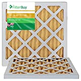 FilterBuy 13.25x13.25x1 MERV 11 Pleated AC Furnace Air Filter, (Pack of 2 Filters), 13.25x13.25x1 – Gold