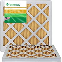 AFB Gold MERV 11 14x18x1 Pleated AC Furnace Air Filters. Pack of 2 Filters. 100% produced in the USA.