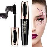4D Silk Fiber Lash Mascara, Fiber Mascara, 4D Silk Fiber Eyelash Mascara, Best for Thickening & Lengthening,Waterproof,Long-Lasting,Lasting All Day, Waterproof, Smudge Proof Eyelashes