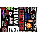 Broadway Musical Collage Custom Twin Sides Pillow Case 2030 Inch by urnside