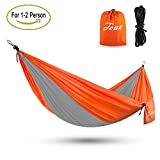 Touz camping travel hammock, Lightweight Portable Parachute Hammock For Backpacking, Camping, Hiking, Travel, Beach, Yard - Holds 450 Lbs
