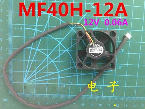 Zyvpee 40x40x10mm MF40H-12A 4cm 12V 0.06A 3Wire Cooling Fan