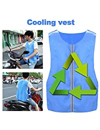 wawoo Cooling Ice Vest Outdoor Riding Fishing Cooling Vest Summer Cooling Vest for Cycling Outdoor Sports Activity excellent