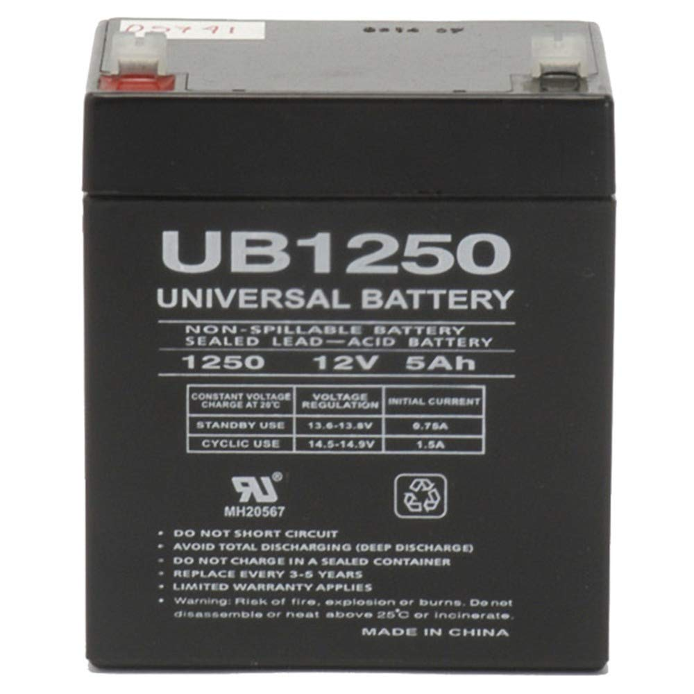 12V 5AH Alarm Security Fire System Battery 12 Volt 5AH SLA Battery (1) UPG UB1250