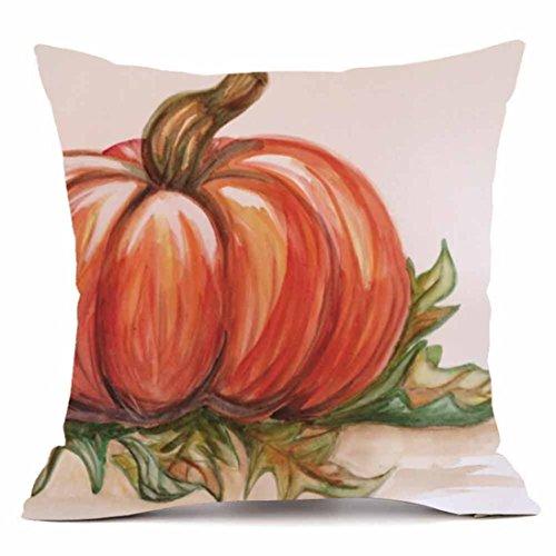 Elogoog Halloween Pumpkin Throw Cushion Cases Super Cashmere Sofa Pillowcase Cover Home Decor 18 x 18 Inches_1pc (18 x 18 Inches, Painting Pumpkin)]()