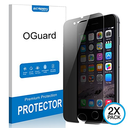[2 PACK] iPhone 7 Anti-Spy Screen Protector, Oguard Premium 3D Touch Privacy Anti-Peep Tempered Glass Screen Protector Shield for iPhone 7 4.7 inch (Black)