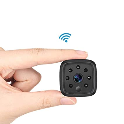 Mini espía WiFi Cámara de vigilancia visión Nocturna, cámara Oculta de la Leva de la