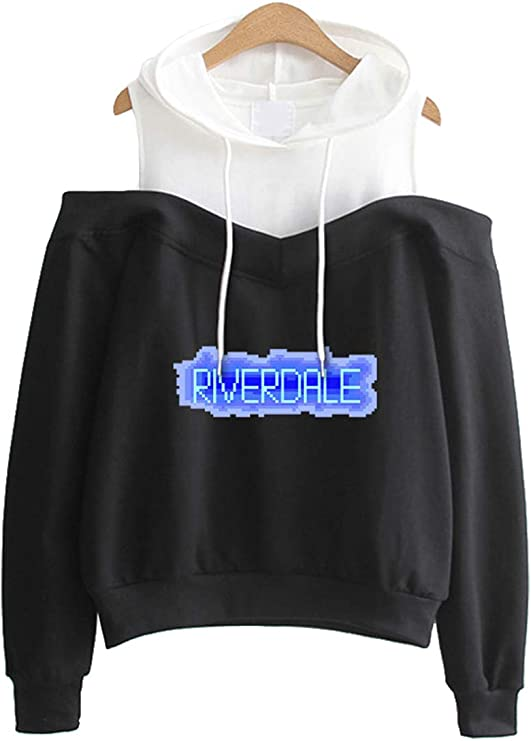Image of EMILYLE Mujer Riverdale High Serpientes XXX Sudadera con Capucha Hombros Sin Tirantes Athletic Department